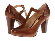 Love the vintage charm of this Frye T-strap. #wedding #zappos
