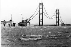 Mackinac Bridge construction