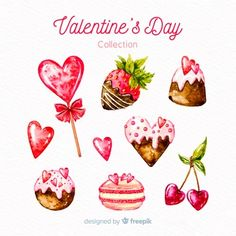 Discover thousands of copyright-free vectors. Graphic resources for personal and commercial use. Thousands of new files uploaded daily. Valentine Drawing, Valentine Doodle, Valentines Watercolor, Watercolor Birthday Cards, Valentines Day Greetings, Saint Valentine, Watercolor Cards, Valentines Illustration, Heart Illustration