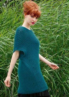 Halbpatentpulli in Blaugrün, stricken mit Rebecca - mein Strickmagazin und ggh-Garn SURI ALPAKA (100% Suri Alpaka). Garnpaket zu Modell 26 aus Rebecca Nr. 48