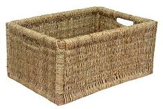 Features: The dimensions can vary slightly because the item is handmade Product Type: Basket Colour: Brown Primary Material: Wicker/Rattan Material D Seagrass Storage Baskets, Wicker Baskets, Rattan, Basket Willow, Rectangular Baskets, Wooden Organizer, Plastic Baskets, Wood Boxes, Crates