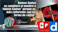 """Romeo Santos se cambiará el nombre a """"Julieta Santos""""https://igg.me/at/FakeNEWS/x/16643782"""