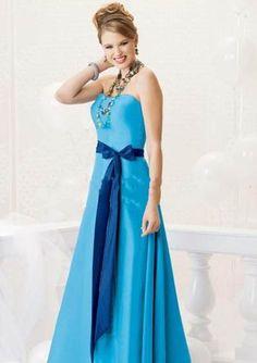 Light blue with dark blue sash