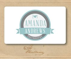 One Of A Kind Premade Logo Design, Will Not Be Resold (Includes Watermark). $30.00, via Etsy.