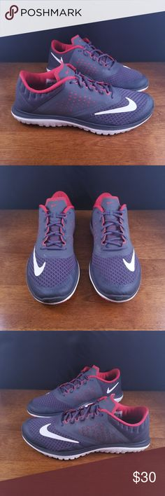 wholesale dealer 5c077 e348f Nike Lite Run 2 Red and Grey Shoes -- Smoke Free -- We thoroughly