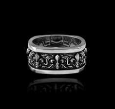 Fleur De Lis Band - NightRider Jewelry