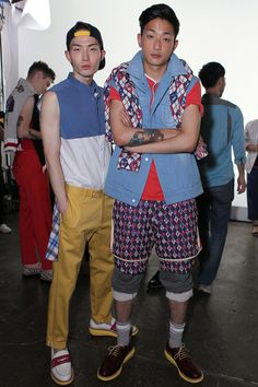 Noma Han and Park Sung Jin Backstage at Beyond Closet SS14