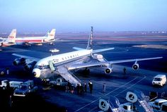 Olympic Airways Boeing 707 at JFK in 1966 Boeing 720, Boeing Aircraft, Olympic Airlines, De Havilland Comet, Douglas Dc 8, Commercial Aircraft, British Airways, Aircraft Pictures, Jet Plane