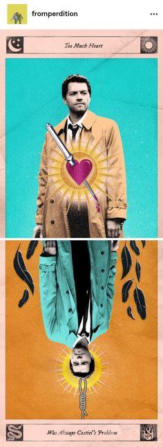 Supernatural Fandom, Castiel, Dean And Cas, Movie Posters, Movies, Art, Art Background, Films, Film Poster