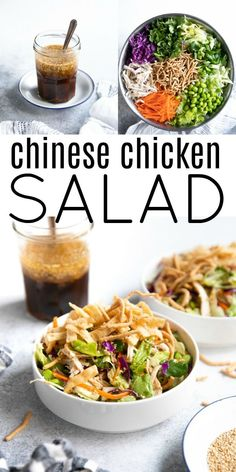 Chinese Chicken Salad Recipes for kids to make Chinese Chicken Salad Recipe Asian Recipes, Healthy Recipes, Ethnic Recipes, Easy Recipes, Chinese Chicken, Chicken Salad Recipes, Recipe Chicken, Salad Chicken, Shrimp Salad