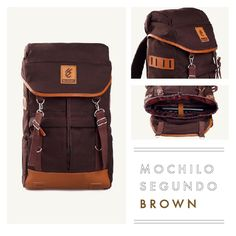 """MOCHILO SEGUNDO  DARK BROWN  Rp. 275.000  FREE SHIPPING ALL OVER INDONESIA  Dimension: 31cm x 14cm x 50 cm 21 Litre 15"""" Laptop Sleeve  Material: High Quality Canvas WR Faux Leather Accessories Leather Accessories YKK Zipper"""