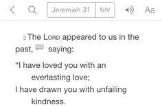 Jeremiah 31:3 (NIV)