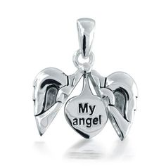 Sterling Silver My Angel Heart Pendant