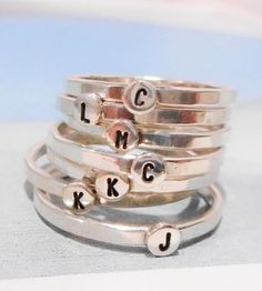 Custom Initial Dot Ring by Tarnished & True