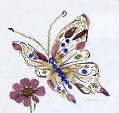 Amazing Pressed Flower Artwork by Tauna Lee600 x 571 | 367.7KB | pressedflowerartwork.com