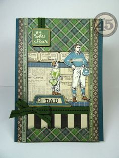 Learn how to make this great Good ol' Sport Father's Day card with a tutorial from Annette #graphic45 #cards #tutorials