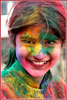 Dreaming of India... Holi, the festival of color.