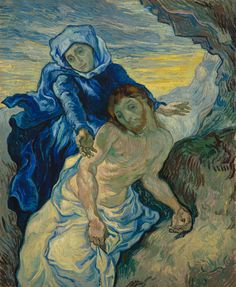 Read a new story on our website: 'Vincent's 'Pinterest'. Prints and illustrations as a source of inspiration'.  http://www.vangoghmuseum.com/en/vincents-pinterest  Image: Vincent van Gogh, Pietà (after Delacroix), 1889, Van Gogh Museum, Amsterdam (Vincent van Gogh Foundation) http://www.vangoghmuseum.nl/en/collection/s0168V1962