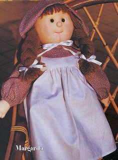 Cloth Doll Sewing Pattern & Tutorial PDF: Margarita. Easy to do!
