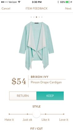 Brixon Ivy Pinson Drape Cardigan $54