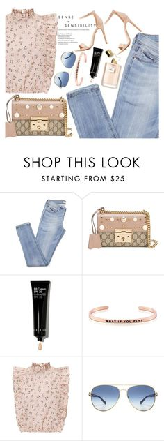 """Untitled #1803"" by mihai-theodora ❤ liked on Polyvore featuring Gucci, Bobbi Brown Cosmetics, MantraBand, Michael Kors and Charlotte Russe"