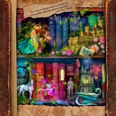 'The Curious Library Calendar - December' by Aimee Stewart Fantasy World, Fantasy Art, Framed Prints, Canvas Prints, Art Prints, Enchanted Book, Library Art, Beautiful Fairies, Dream Art