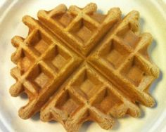 Vanilla-Cinnamon Vegan Waffles for One (with protein) Recipe via @SparkPeople