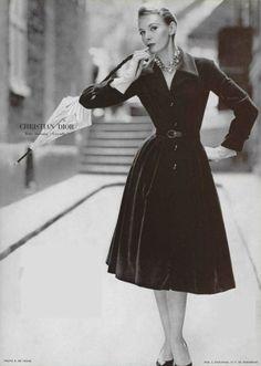 1955 - Christian Dior velvet day dress