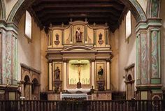 The main altar at Mission San Luis Rey, Oceanside CA. (c) Richard Bauman