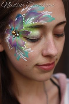Face Painting for your child's birthday party or special event - Face Painting Calgary, Nadine's Dreams Face Painting Face Painting Flowers, Adult Face Painting, Face Painting Designs, Body Painting, Paint Flowers, Skin Paint, Body Art Photography, Facial, Henna Artist