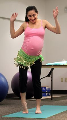 Moms-to-be in Dancing for Birth classes use dance as a way to prepare for labor, both mentally and physically!