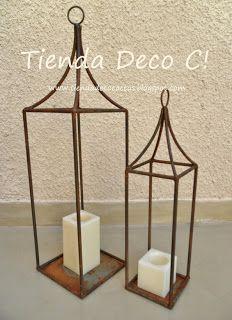 Tienda DecoCactus cactus crasas suculentas macetas de cemento cerámica banquetas romanas: Fanales óxido