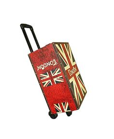 Suitcase Box with Wheels <---- Totally need a TARDIS Suitcase!