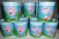 Latas decoradas - Peppa pig www.facebook.com/aproveitandolata