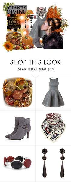 """Happy Thanksgiving"" by slynne-messer ❤ liked on Polyvore featuring Pier 1 Imports, Hermès, Chico's and Givenchy"