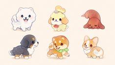 Vea el video sobre el embarazo mayor de 40 añosfluffysheeps: Puppy galore! Cute Kawaii Animals, Cute Animal Drawings Kawaii, Cute Little Drawings, Cute Baby Animals, Cute Drawings, Chibi Dog, Cute Dog Drawing, Anime Animals, Tier Fotos