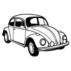 VW Beetle Car Vector by Vectorportal.deviantart.com on @DeviantArt