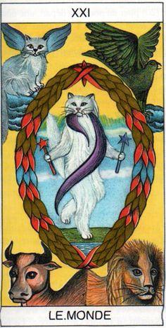 Une représentation originale du monde, qui montre la diversité existant sur les arcanes majeurs du tarot.