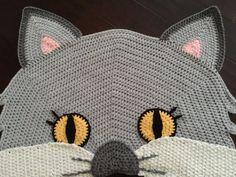 Ganchillo manta de gato por PeanutButterDynamite en Etsy