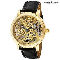 Maurice Lacroix Men's Masterpiece 18kt Gold Skeletonized Watch