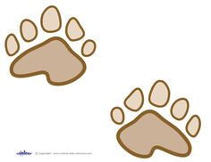 bear footprints template - printable bear paw prints template cub scouts