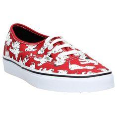Rode Skateschoenen Vans Authentic