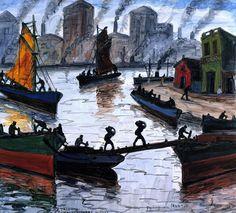 اللوحة للفنان Benito Quinquela Martin