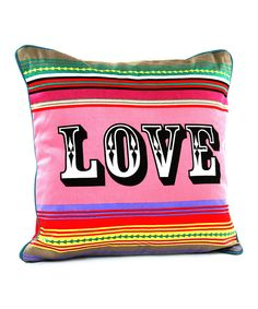 This 'Love' Throw Pillow by Karma Living is perfect! #zulilyfinds