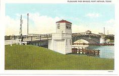 old pictures of port arthur tx | Pleasure Pier Bridge, Port Arthur, Texas from antique-ables on Ruby ...