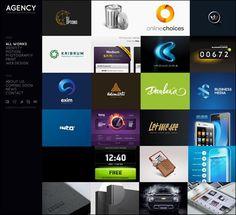 grid based agency site #webdesign #layout #web