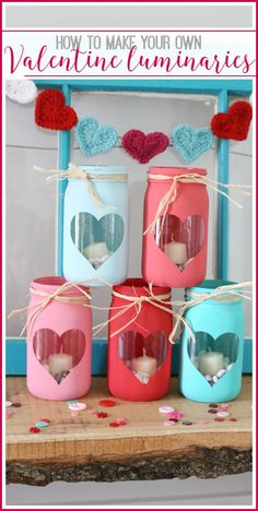 How to make your own Valentine luminaries from MichaelsMakers  Sugarbee Crafts