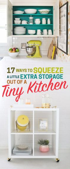 17 Ways To Squeeze A Little Extra Storage Out Of A Tiny Kitchen | BuzzFeed  - DIY | Bloglovin'