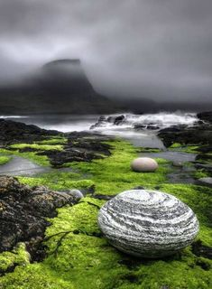 pedras e verde