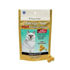 Naturvet CAT Allergy Aid Plus Immune Support 2-IN-1 - 50 Soft Chews - BD Luxe Dogs & Supplies